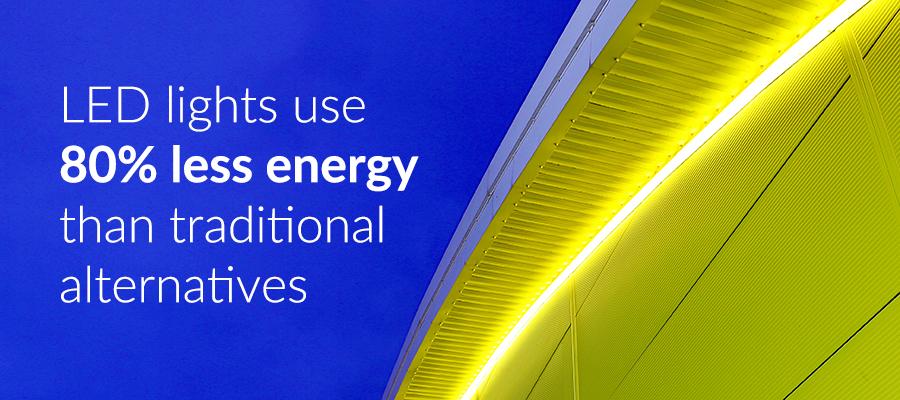 5 environmental benefits of using LED contour lighting - Visive