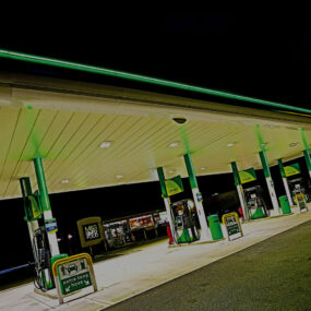 How Visive helped to transform BP service station forecourt lighting